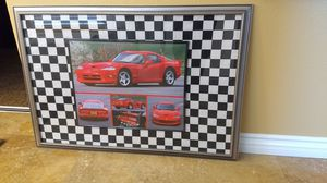 Sports car picture frame for Sale in Corona, CA