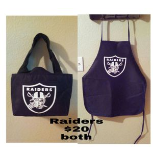Raiders apron & cooler/lunch bag for Sale in Henderson, NV