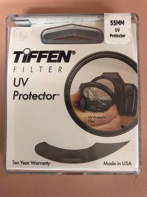 Tiffen filter UV protector 55mm for Sale in Tampa, FL