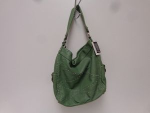 "B Makowsky Green Tea Studded Cassidy Hobo Bag 13"" x 14 1/2"" for Sale in Penn Hills, PA"
