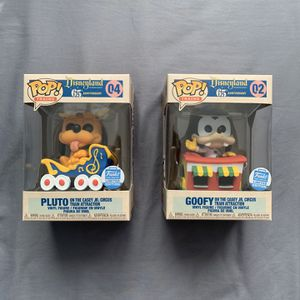 Funko POP Trains! Goofy & Pluto On Casey Jr. Circus Trains Set *IN HAND*. for Sale in San Jose, CA