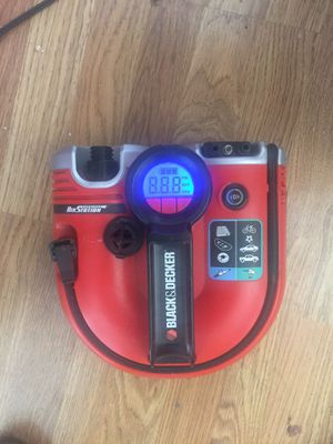 Digital Black & Decker Air Station Inflator for literally everything from car tires to air mattress, balls, rafts, bikes - has car charging port and for Sale in Vancouver, WA