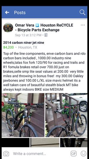 2014 NINER JET NINE carbon fiber for Sale in Houston, TX