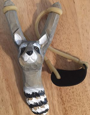 Hand Carved Wooden Sling Toy w/ High Power Rubber Band Children's Toy (PRICE FIRM) for Sale in Visalia, CA