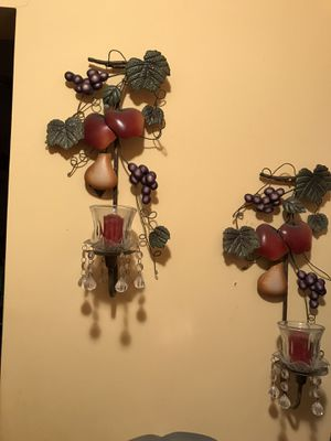 Beautiful fruit decor with candles holder for home or office or any room for Sale in New York, NY