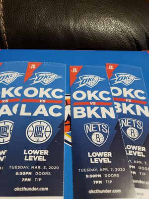 TWO THUNDER TICKETS for Sale in Oklahoma City, OK