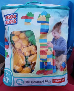 Mega Bloks 80 Piece Big Building Bag for Sale in Washington, DC