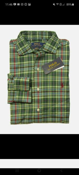 **BRAND NEW NEVER WORN**Polo Ralph Lauren Men's Green Plaid Classic Fit Performance Flannel L/S Shirt $30 Local Pick Up! for Sale in Fort Washington, MD