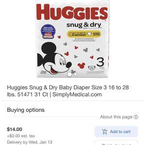 Huggies Size 3 for Sale in Philadelphia, PA