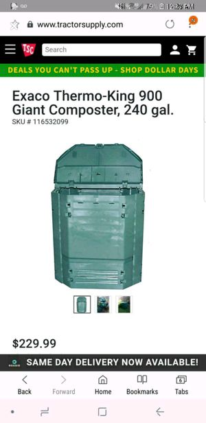 New 240 Gallon Composter from Tractor Supply for Sale in Lenoir City, TN
