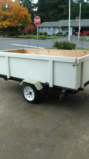 4 by 8 tilting folding utility trailer with title for Sale in Vancouver, WA