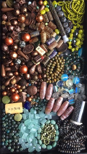 Curated collection of gemstone & glass beads for jewelry making for Sale in Seattle, WA