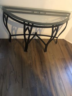 Glass Table Metal Base for Sale in North Bend,  WA