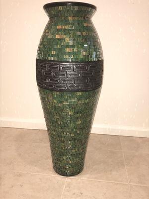 New Glass Mosaic Terra-cotta Floor vase for Sale in Glendale, AZ