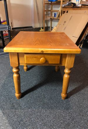 End table/side table with drawer real wood for Sale in San Jose, CA