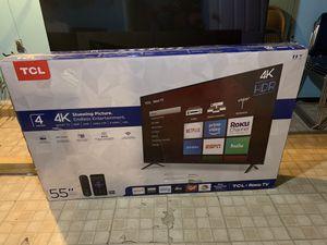 55 Tcl 4K roku smart led tv for Sale in West Orange, NJ