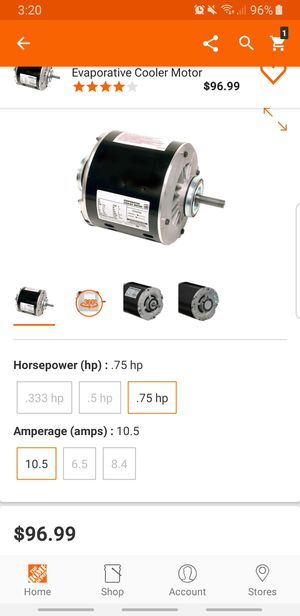 DIAL 2-Speed 3/4 HP Evaporative Cooler Motor for Sale in Houston, TX