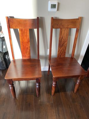 2 rubberwood chairs from World Market for Sale in Portland, OR