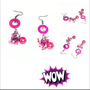 """Great Pink Fashionable Dangling Earrings Approx 2.5"""" x 0.75"""". SHIPPING ONLY!!! for Sale in Colorado Springs, CO"""