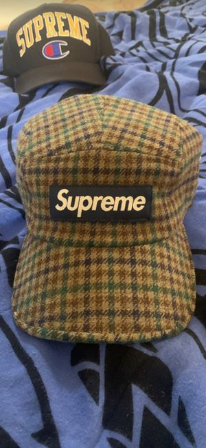 2014 Supreme Plaid Camp Cap for Sale in Mountain House, CA