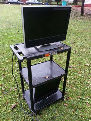 Stand, rolling. Mutimedia with plug $80. Toshiba 23 inch hdmi dvd. $100 for Sale in Atlanta, GA