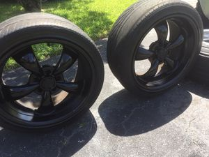 2 freshly painted performance rims & tires for Sale in Davie, FL
