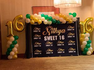 Backdrop with balloons (sweet 16th B-day) for Sale in Leesburg, VA
