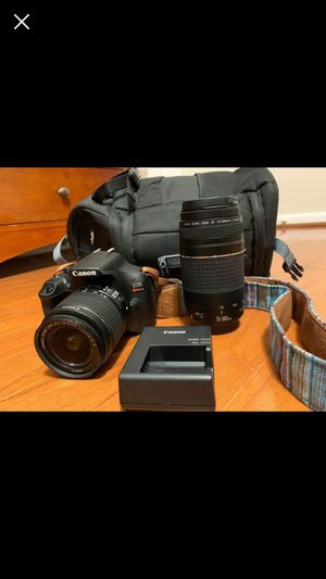 Canon T6 with 2 lenses - A++ for Sale in Philadelphia, PA