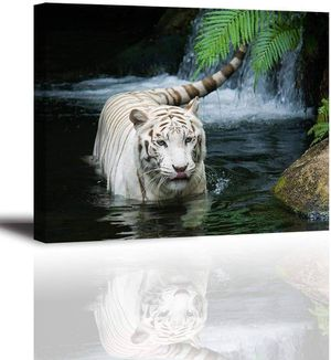 (FREE SHIPPING) Ivory Tigress in Pond Wall Art Home Décor for Sale in Atlanta, GA