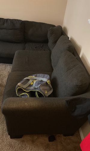 Sectional fabric couch 2 peices sofa for Sale in Columbus, OH
