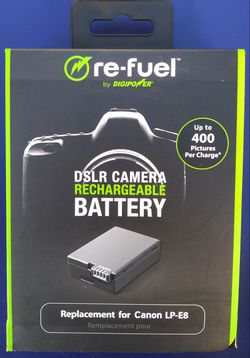 DigiPower Re-Fuel Camera Replacement Battery for Canon LP-E8 Brand New for Sale in Los Angeles,  CA