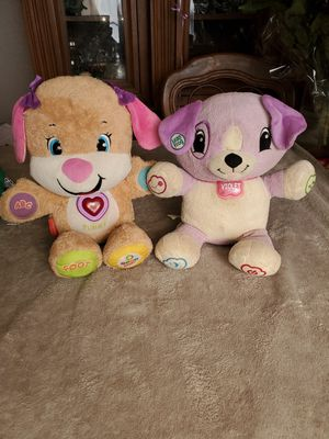 💜 Vtech laugh & learn smart stages puppy for ages 6-36 months & leapfrog learning puppy violet for Sale in Commerce, CA