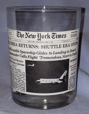 Wendy's/ New York Times Columbia Article Collectible Drinking Glass for Sale in Columbus, OH