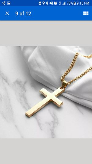 Stainless steel unisex cross necklace for Sale in Staten Island, NY