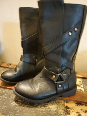 Girls black zip up boots for Sale in Tulsa, OK