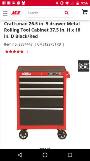Red craft roller tool box for Sale in Pine Bluff, AR