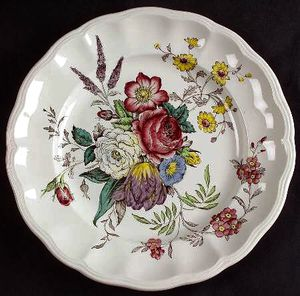 8 Vintage handpainted SPODE Copeland British Dinner Plates for Sale in Los Angeles, CA