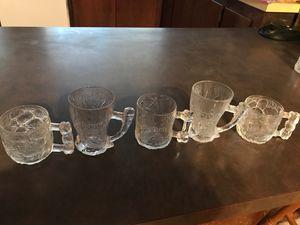 McDonalds collectible Flintstones glass cups for Sale in Huntington Beach, CA