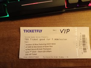 1 VIP Ticket to see Dizzy Reed from GNR for Sale in IL, US