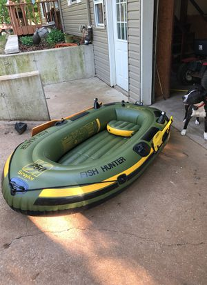 Fish hunter inflatable boat for Sale in Bloomsdale, MO
