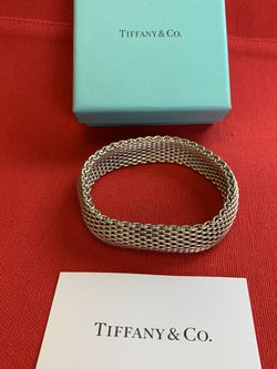 Tiffany & Co Somerset Mesh Bracelet 925 for Sale in Tacoma,  WA
