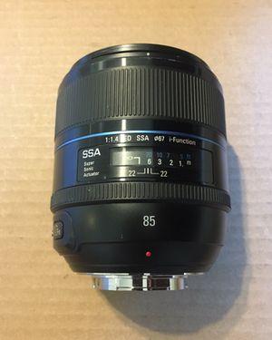 Samsung NX 85mm 1.4 Prime Lens for Sale in Clovis, CA