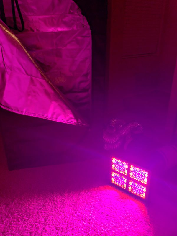 Indoor Grow Tent Complete Kit - including 600W LED grow light, carbon air filter, and 101Watt fan