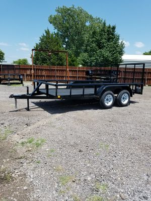 New 2020 14x76 Pipetop Trailer with 4ft Tailgate and Brakes (Traila) for Sale in Mesquite, TX