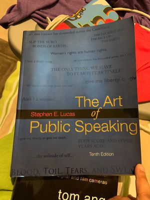 The art of public speaking 10th edition for Sale in Lutz, FL