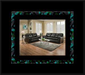 Black bonded leather sofa and loveseat for Sale in Crofton, MD