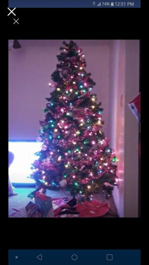Pre lit Christmas tree 7 ft for Sale in Eau Claire, WI