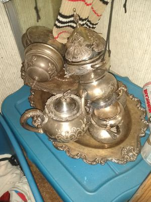 Silver plated pots and pans for Sale in Saucier, MS