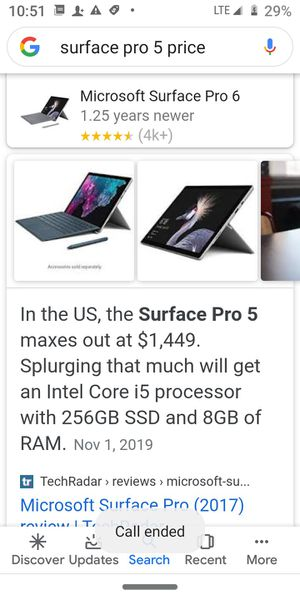 Unlocked Microsoft surface pro 5 for Sale in Houston, TX