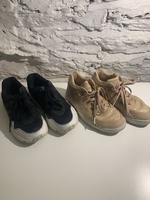 Nike Air Flight nude/tan + Adidas black/white women's 7.5 or men's 6 for Sale in Brooklyn, NY